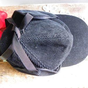 Accessories - Vintage Retro Corduroy Winter Ear Muff Hat Cap
